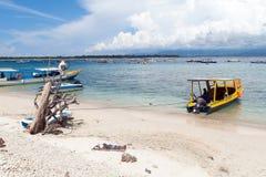 Gili Trawangan. Seascape of Gili Trawangan island, Indonesia Stock Photo