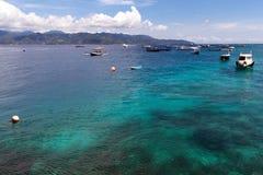 Gili Trawangan. Seascape of Gili Trawangan island, Indonesia Royalty Free Stock Photo