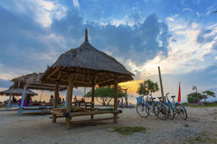Gili Trawangan Sunset Royalty Free Stock Photography