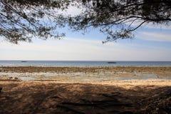 Gili Trawangan white sandy beache Royalty Free Stock Photography