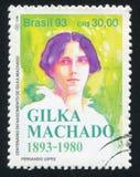 Gilka Machado printed by Brazil. BRAZIL - CIRCA 1993: stamp printed by Brazil, shows  Gilka Machado, circa 1993 Royalty Free Stock Image
