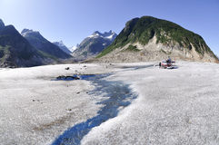 Gilkey Glacier with Helicopter Royalty Free Stock Photos