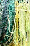 Gill Nets. And bouys in the Charleston Oregon harbor awaiting next season Royalty Free Stock Photo