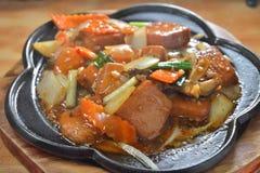Gilled hot pan Tofu Stock Photos