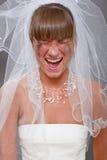Gillende bruid Stock Afbeeldingen