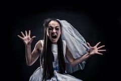 Gillende bruid Stock Afbeelding