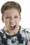 Gillende jonge jongen Royalty-vrije Stock Afbeeldingen