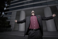 Gillende zakenman Stock Fotografie