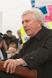 Gilles Duceppe addresses Nortel pensioners rally Royalty Free Stock Photos
