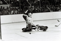 Gilles Gilbert. Former Boston Bruins goalie Gilles Gilbert Stock Image
