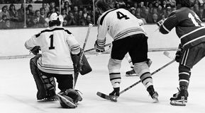 Gilles Gilbert and Bobby Orr Royalty Free Stock Images