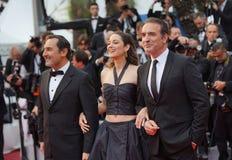 Gilles Lellouche, Marion Cotillard et Jean Dujardin photos stock