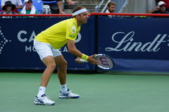 Gilles Muller (LUX). MONTREAL, QUEBEC, CANADA - AUGUST 12, 2015: Gilles Muller (LUX) during his match against Gael Monfils (FRA) at Coupe Rogers in Montreal on Stock Photography