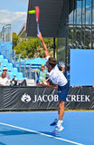 Gilles Simon bawić się w australianie open Fotografia Stock