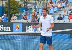 Gilles Simon bawić się w australianie open Zdjęcie Stock