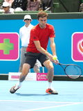 Gilles Simon of France low backhand Stock Photos