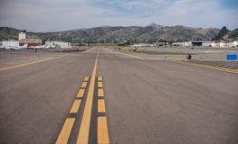 Gillespie Field Runway. San Diego, California USA March 2015. Airplane runway at Gillespie Field in El Cajon, California stock images