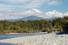 Gillespies Beach walking track and bridge. West Coast, South Island Royalty Free Stock Photo