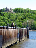 Gillette Castle. A Connecticut landmark. Taken from the west side of the Connecticut River Royalty Free Stock Photos