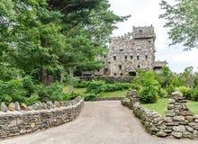 Gillette Castle. Facade of Gillette castle in Connecticut, USA stock image