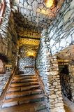Gillette Castle stairs. Stairs of Gillette Castle in Connecticut, USA Stock Image