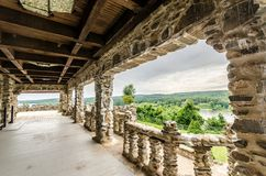 Gillette Castle-terras Royalty-vrije Stock Foto
