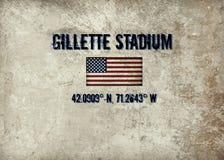 Gillette Stadium, Foxboro, MA lizenzfreies stockfoto