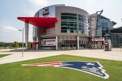Gillette Stadium hem av New England Patriots Arkivbilder