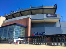 Gillette Stadium. Home of the New England Patriots and New England Revolution Stock Images