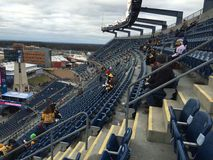 Gillette Stadium Jan 1st 2016. Winter Classic early fans Royalty Free Stock Photo