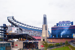 Gillette Stadium One Direction Concert. FOXBORO, MASSACHUSETTS - SEPTEMBER 12, 2015: View of Gillette Stadium, home of the New England Patriots, prior to the One Stock Image
