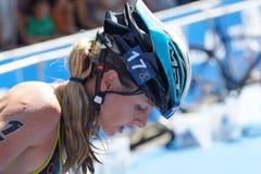 Gillian Sanders (RSA) with helmet on Stock Photography