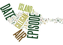 Gilligan S Island Dvd Review Word Cloud Concept Royalty Free Stock Image