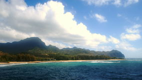 Gillin plaża na Kauai timelapse zbiory