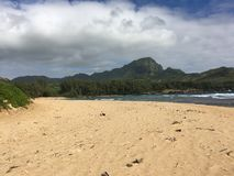 Gillin`s beach from Mahaulepu angle royalty free stock images