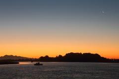 Gillnet Fishing, Fraser River Dawn Stock Photos