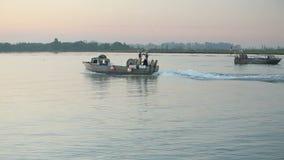 Gillnetter resande, Fraser River Morning Fotografering för Bildbyråer