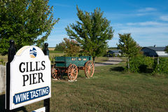 Gills Pier winery, Michigan Stock Photography