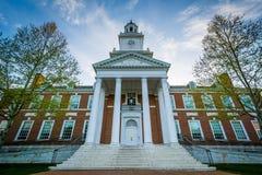 Gilman Hall, an den Universität John Hopkins, in Baltimore, Maryland stockfotografie