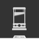 Gilotyny ikona dla sieci i wiszącej ozdoby Zdjęcia Stock