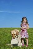 Gilr with dog Stock Photos
