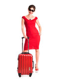 Gilr with suitcase Stock Photo