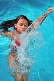 Gilr swimming Royalty Free Stock Photography