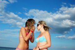 Gilrs on beach Stock Photos
