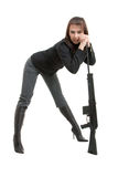 Gils avec des canons Photographie stock libre de droits