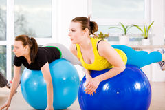 Gils do Aerobics imagem de stock royalty free