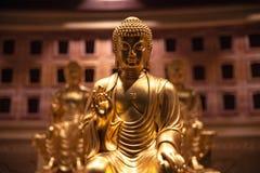 Gilt Buddha figure of maitreya in luoyang paradise, China. The merciful gilt Buddha figure of maitreya in the heaven of luoyang, China stock image