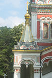 Gilt decorations and ornaments Shipka Monastery. Shipka - critical stage of the Russian-Turkish war royalty free stock photo