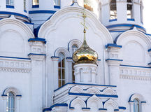 Gilt dome of russian temple. Royalty Free Stock Photography