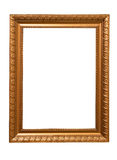 Gilt frame. Antique gilt frame isolated on white Stock Photos